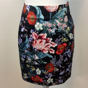 Mink Pink Botanica Satin Mini Skirt